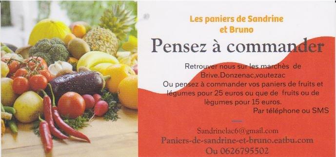 Les paniers de Sandrine et Bruno