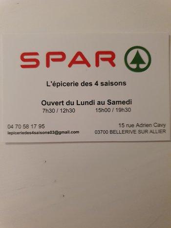 logo SPAR - Épicerie des 4 saisons