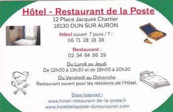 logo Hôtel Restaurant de la Poste