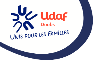 logo L'UDAF :Union départementale des associations familiales du Doubs