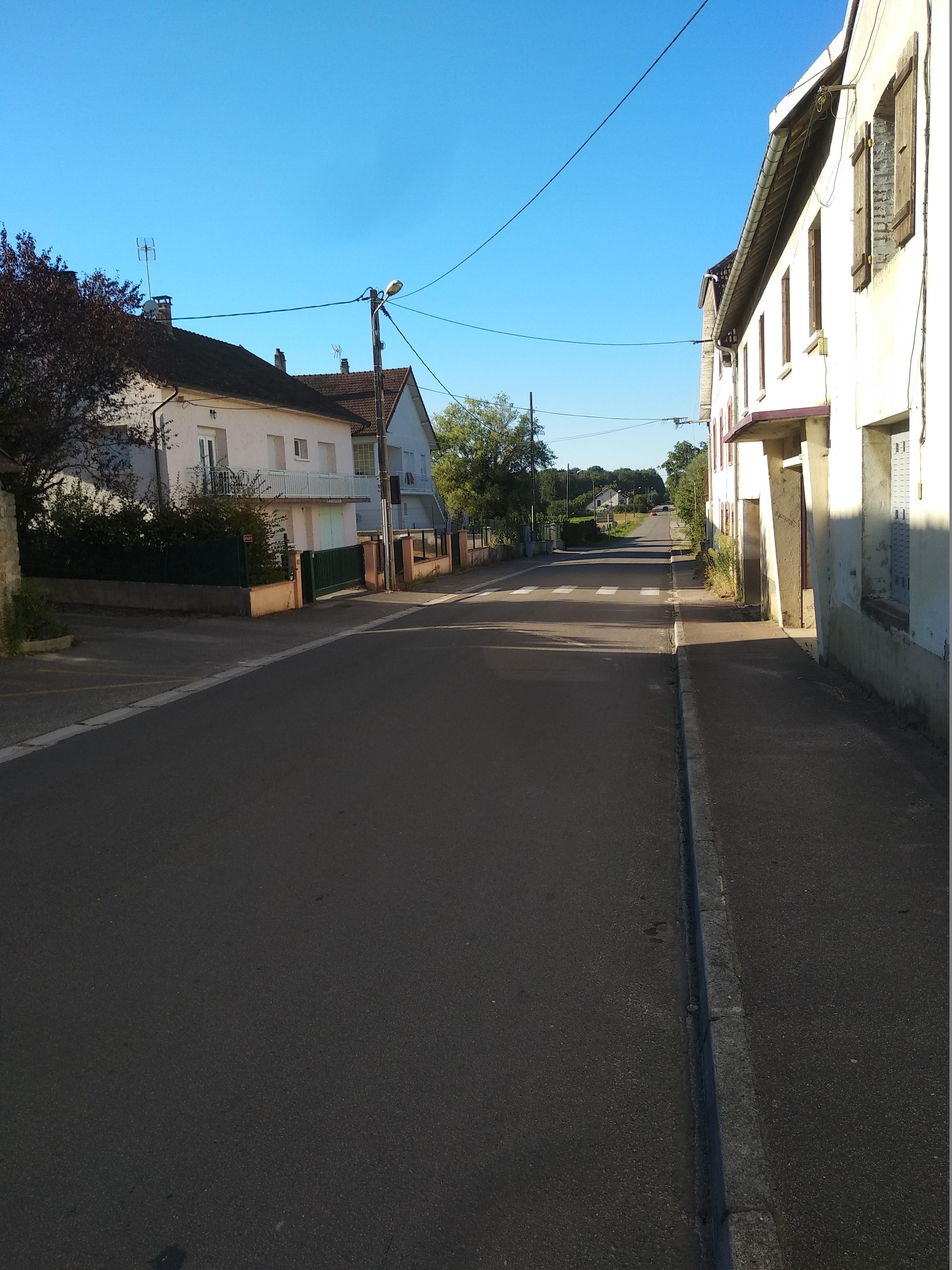 La vitesse sur l'axe Chaumergy- >Bletterans.