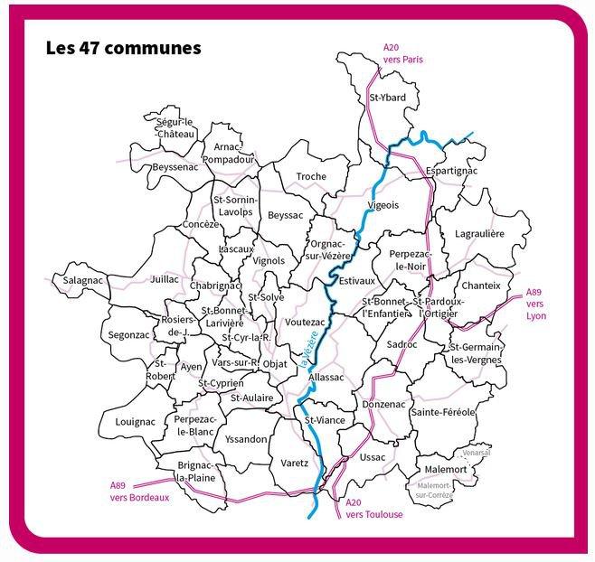 Les 47 communes du pays d'art et d'histoire